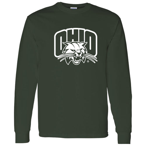 Ohio University Bobcats Arch Logo Long Sleeve T Shirt - Forest