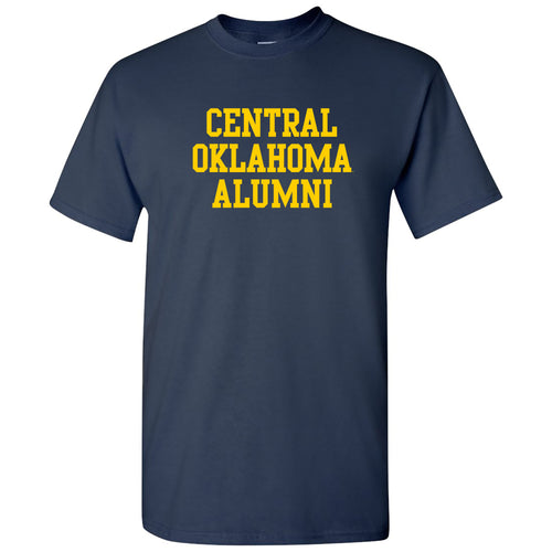 Central Oklahoma University Bronchos Basic Block Alumni Short Sleeve T Shirt - Navy