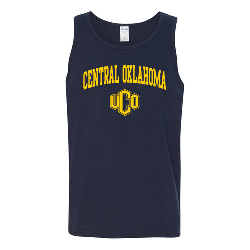 Central Oklahoma University Bronchos Arch Logo Tank Top - Navy