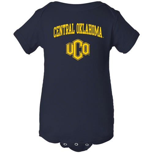 Central Oklahoma University Bronchos Arch Logo Creeper - Navy
