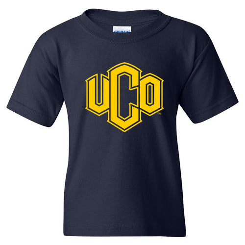 Central Oklahoma University Bronchos Primary Logo Youth Short Sleeve T Shirt - Navy