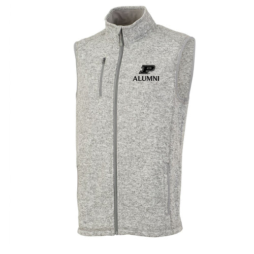 Purdue University Boilermakers Block P Alumni Charles River Vest - Light Grey Heather