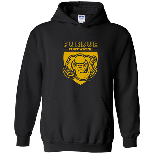 Purdue University Fort Wayne Mastodons Primary Logo Hoodie - Black