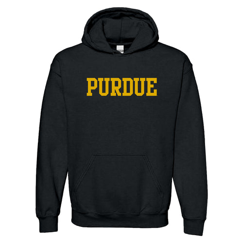 Purdue University Boilermakers Basic Block Hoodie - Black