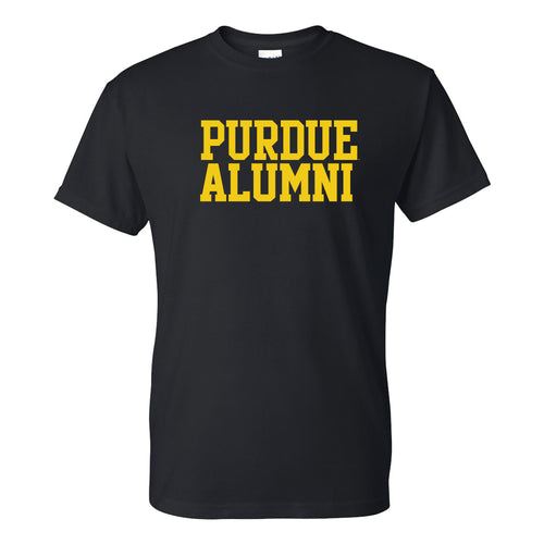 Purdue University Boilermakers Basic Block Alumni Short Sleeve T Shirt - Black