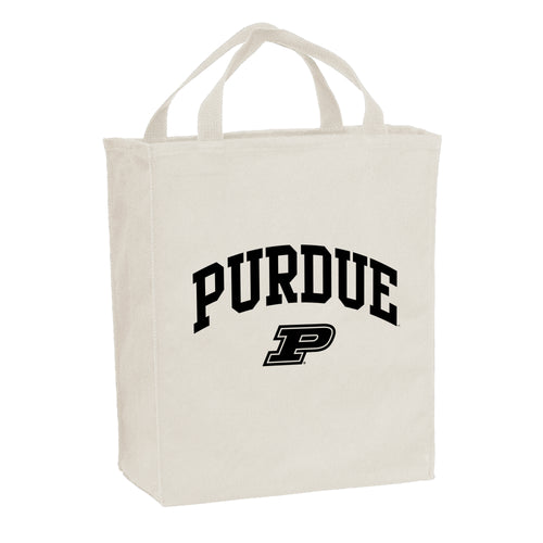 Purdue University Boilermakers Arch Logo Port Authority Tote Bag - Natural