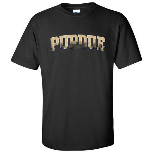 Purdue University Boilermakers Arch Fade Next Level Short Sleeve T Shirt - Black