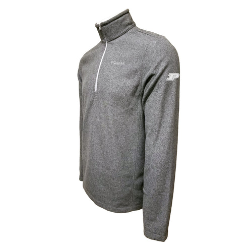 Purdue University Boilermakers Block P Left Sleeve Columbia Fleece Sweatshirt - Grey Thread - Grey
