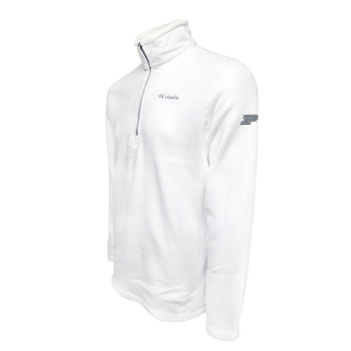 Purdue Columbia Fleece - Grey Thread - White