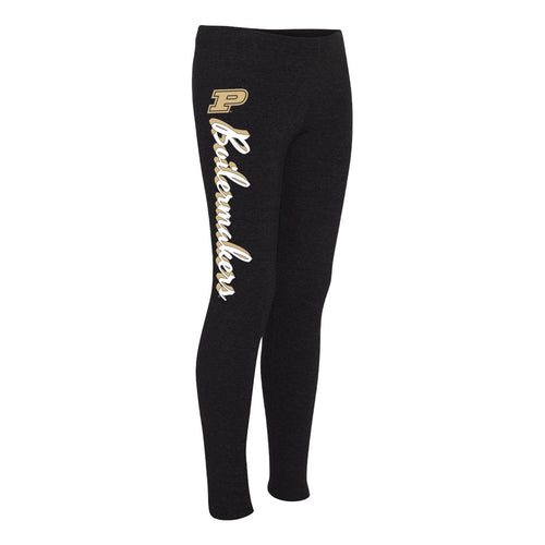 Purdue University Boilermakers Mascot Script Boxercraft Leggings - Black