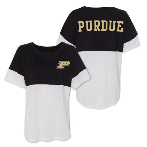 Purdue Short Sleeve Pom Jersey - Black/White