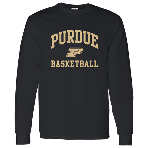 Purdue Arch Logo Basketball Long Sleeve - Black