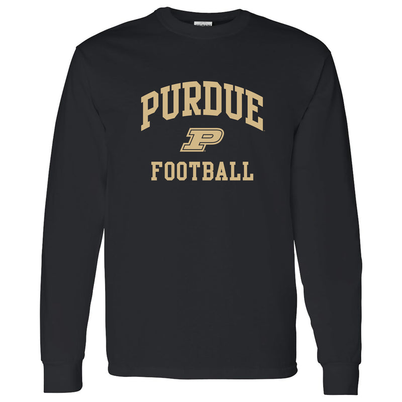 Purdue Boilermakers Arch Logo Football Long Sleeve T Shirt - Black