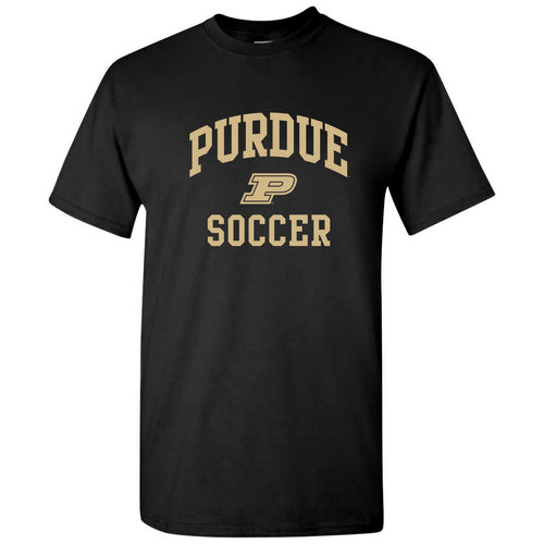 Purdue University Boilermakers Arch Logo Soccer Short Sleeve T Shirt - Black
