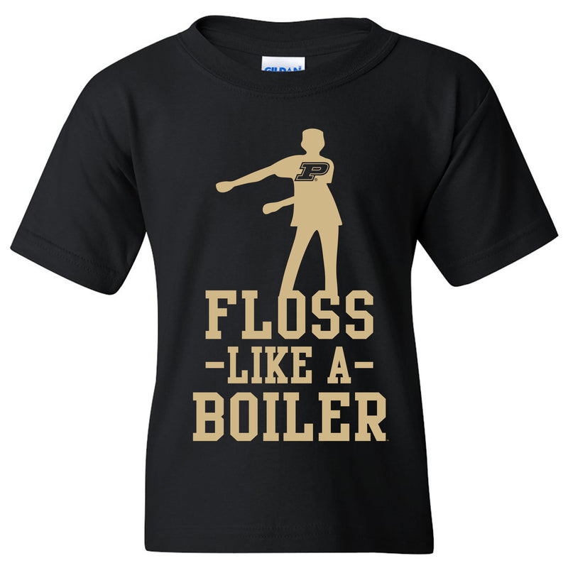 Floss Like a Boiler Youth Basic Tee - Black