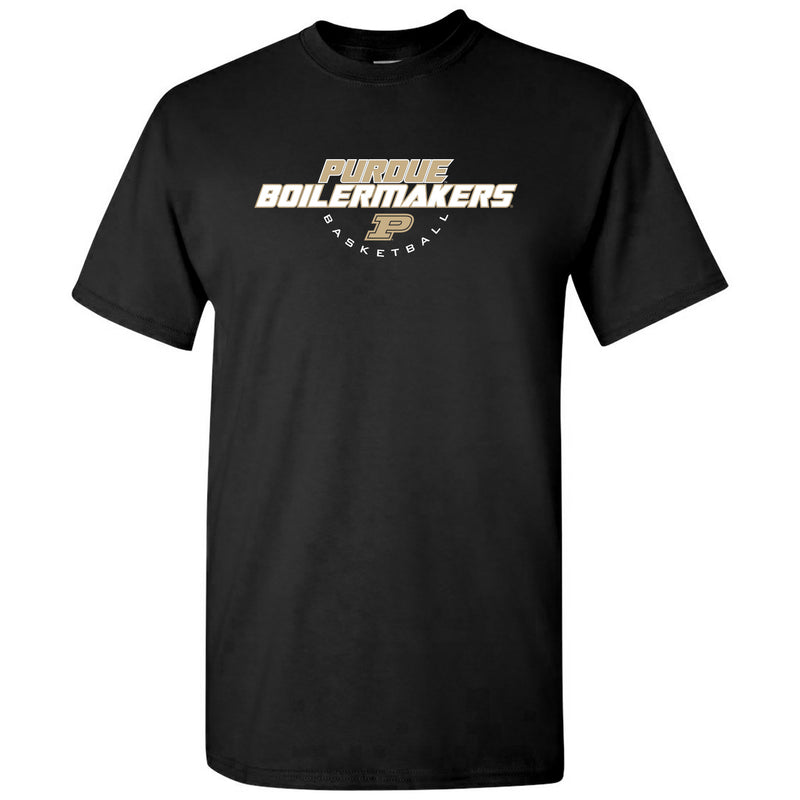 Purdue University Boilermakers Basketball Tech Short Sleeve T Shirt - Black