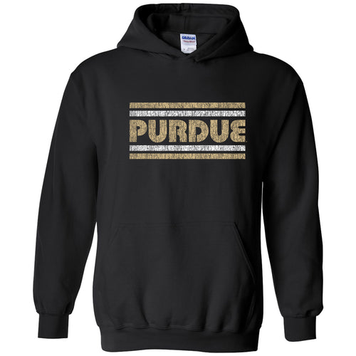 Purdue University Boilermakers Retro Underline Heavy Blend Hoodie - Black