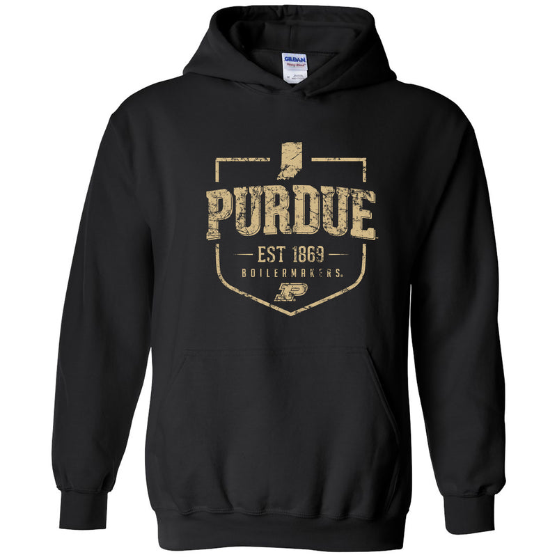 Timber Shield Purdue Boilermakers Heavy Blend Hoodie - Black