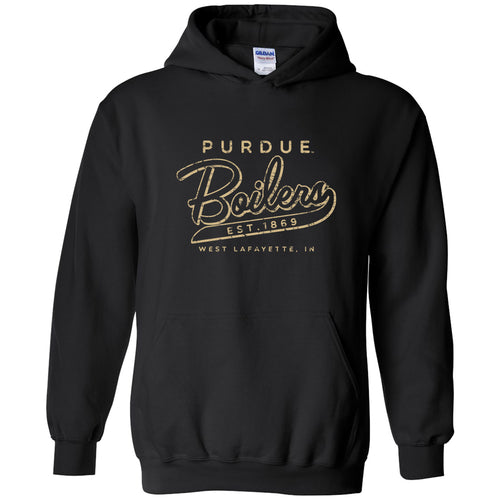 Purdue University Boilermakers Road Trip Heavy Blend Hoodie - Black