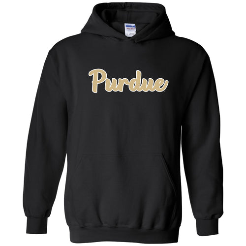 Purdue University Boilermakers Basic Script Heavy Blend Hoodie - Black