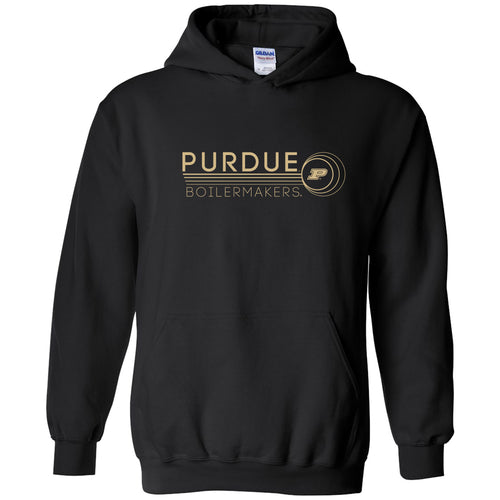 Purdue University Boilermakers Logo Ping Heavy Blend Hoodie - Black