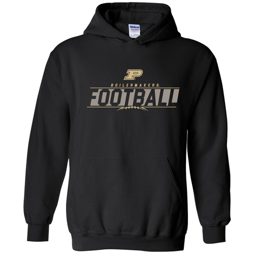 Purdue University Boilermakers Football Charge Hoodie - Black