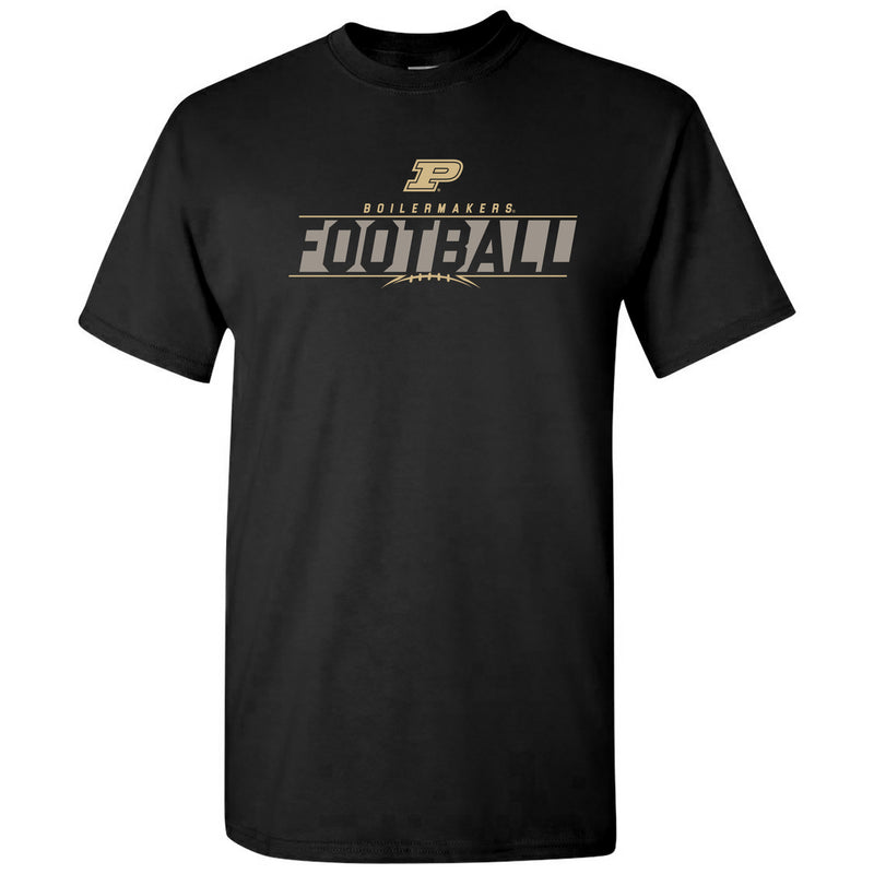 Purdue University Boilermakers Football Charge Short Sleeve T Shirt - Black