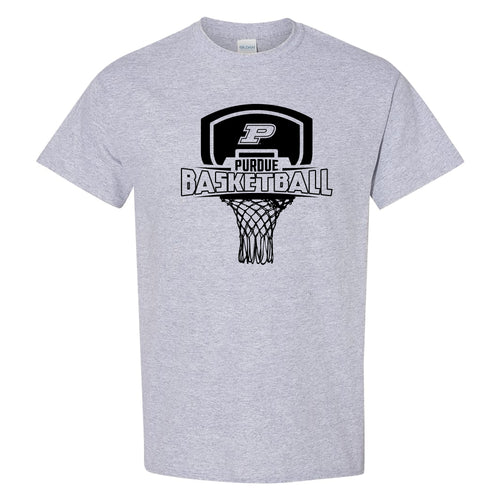 Purdue University Boilermakers Basketball Board Short Sleeve T Shirt - Sport Grey