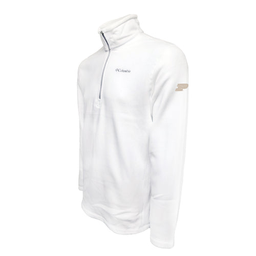 Purdue Columbia Fleece - Gold Thread - White