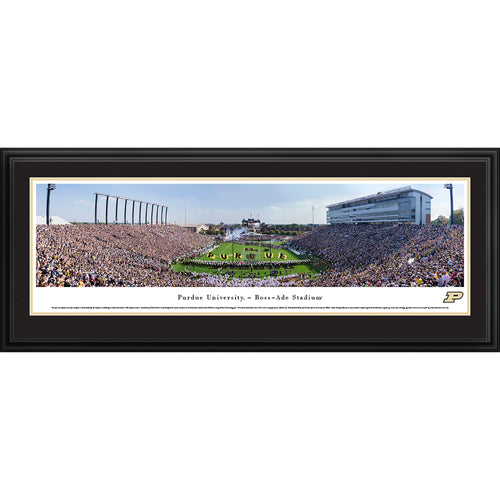Purdue University Boilermakers Football Ross-Ade Stadium End Zone - Deluxe Frame