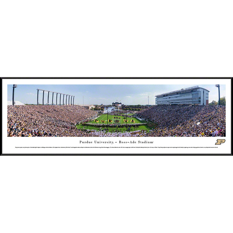 Purdue University Boilermakers Football Ross-Ade Stadium End Zone - Standard Frame