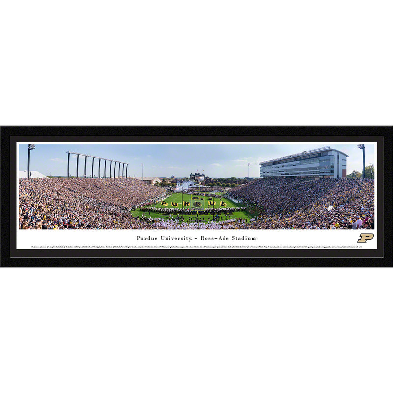 Purdue University Boilermakers Football Ross-Ade Stadium End Zone - Select Frame