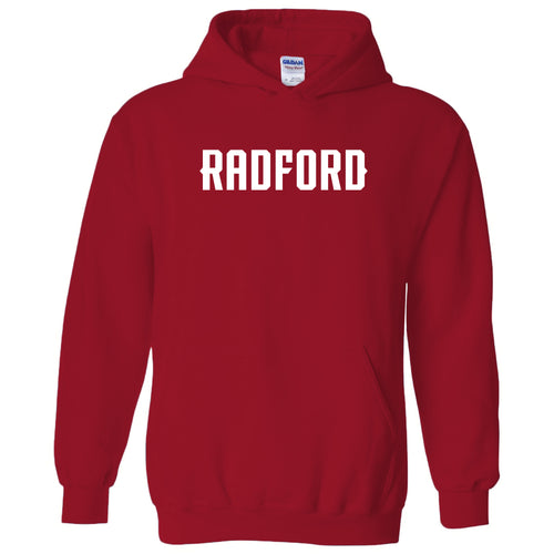 Radford University Highlanders Basic Block Heavy Blend Hoodie - Red