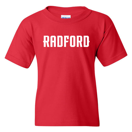 Radford University Highlanders Basic Block Cotton Short Sleeve Youth T Shirt - Red