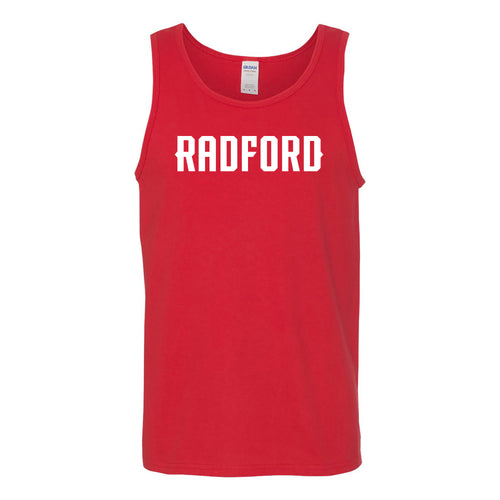 Radford University Highlanders Basic Block Heavy Cotton Tank Top - Red