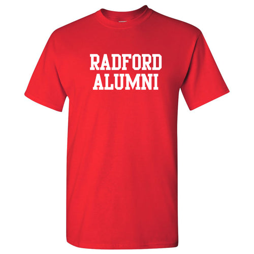 Radford University Highlanders Alumni Basic Block Cotton Short Sleeve T Shirt - Red