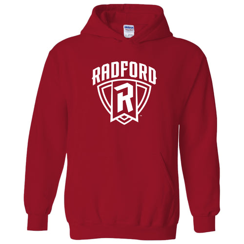 Radford University Highlanders Arch Logo Heavy Blend Hoodie - Red