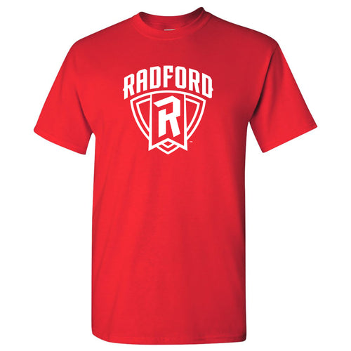 Arch Logo Radford University Basic Cotton Short Sleeve T Shirt - Red