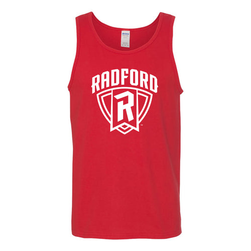 Radford University Highlanders Arch Logo Heavy Cotton Tank Top - Red
