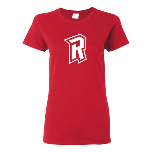 Radford University Highlanders Primary Logo Basic Cotton Short Sleeve Womens T Shirt - Red