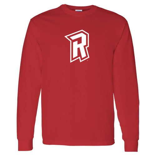 Radford University Highlanders Primary Logo Basic Cotton Long Sleeve T Shirt - Red