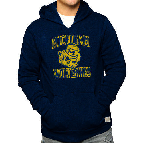 University of Michigan Retro Brand 6090 Triblend Hoodie - Navy