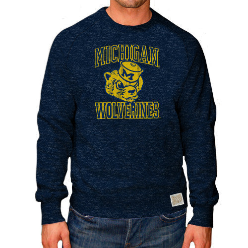 University of Michigan Retro Brand 6135 Crewneck - Navy