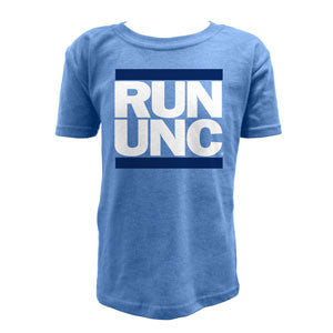 RUN UNC Short Sleeve Youth - Carolina Blue