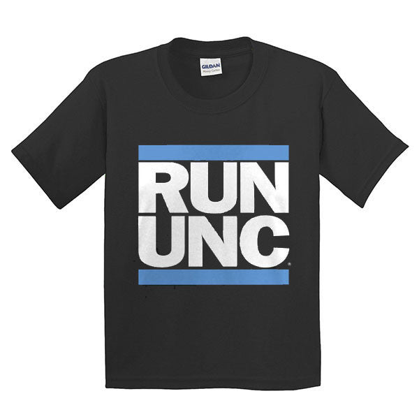 RUN UNC Short Sleeve Youth Tee - Black