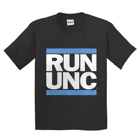 RUN UNC S/S Youth - Black