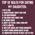 Top Ten Rules For Dating My Daughter Dads Against Daughters Dating Protective Dad Parent Funny Adult T Shirt - Maroon