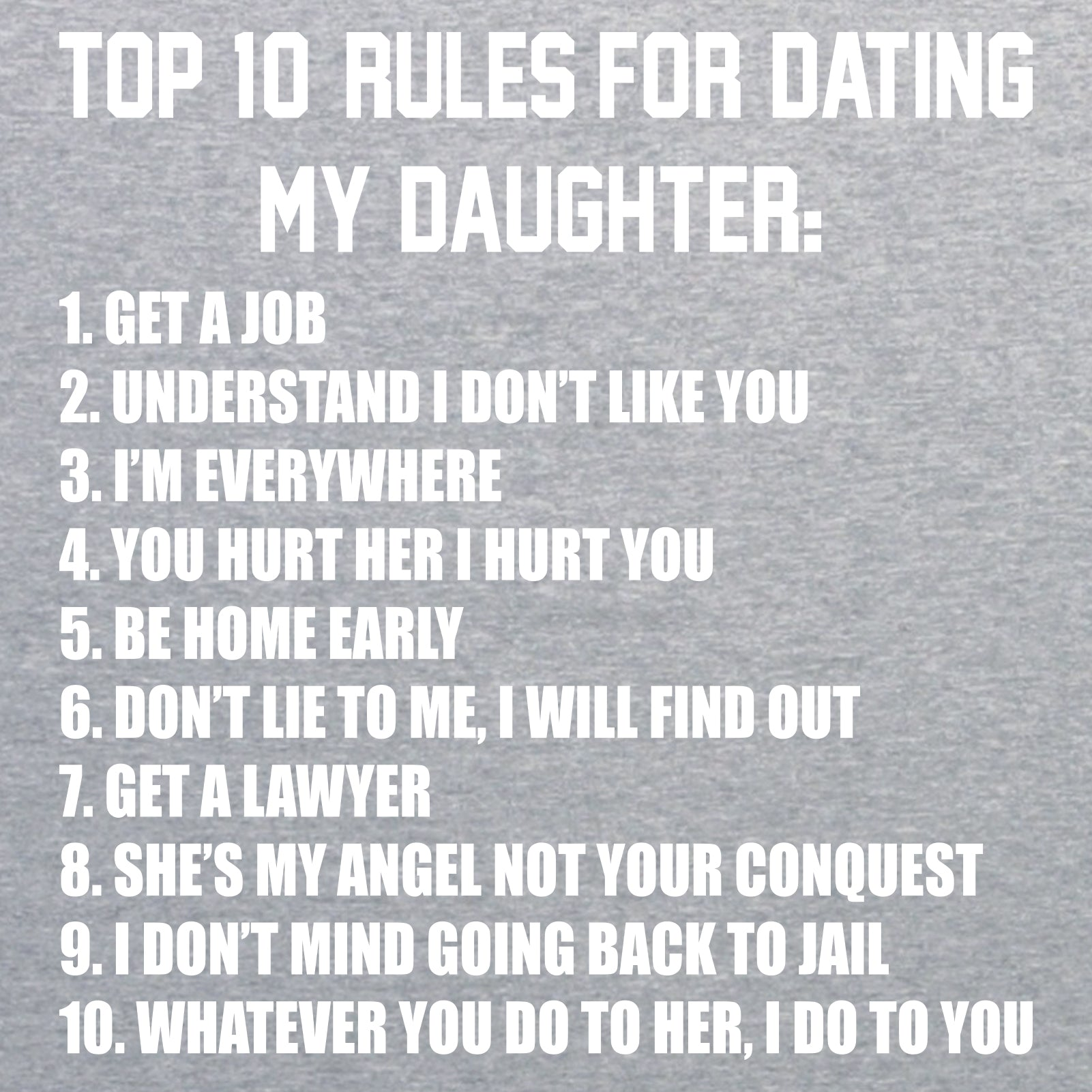 dad against daughters dating