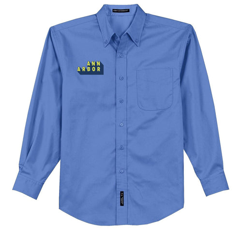 DA2 Mens Long Sleeve Button Down - 	Ultramarine Blue - $37.50