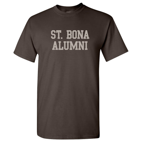 St Bonaventure Alumni Block T Shirt - Dark Chocolate